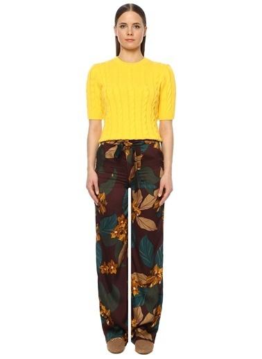 NetWork Kadın 1073374 Regular Fit Karışık Desenli Pantolon Mürdüm